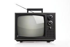 Stary przenośne urządzenie TV obraz stock