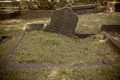Stary przerastający prolapsed grób zdjęcie stock