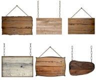 Stary pusty drewniany znak zdjęcia royalty free