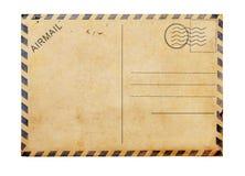 Stary pusty pocztówkowy biały tło Zdjęcie Stock
