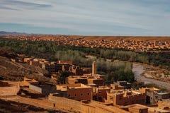 Stary Pustynny miasto Maroko Fotografia Stock