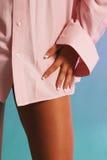 stary różowej seksowną koszulowej kobiety Zdjęcie Stock