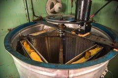 Stary Ręcznie robiony automatyzujący Miodowy ekstraktor Zdjęcia Royalty Free