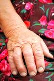stary ręka chłop Fotografia Stock