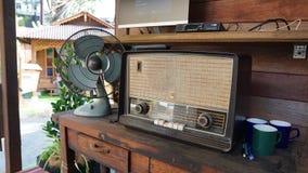 Stary radio i fan Fotografia Stock