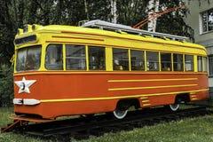 Stary Radziecki tramwaju mid-20th wiek Zdjęcia Royalty Free