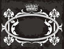 stary ramowy korony ilustracja wektor