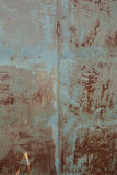 Stary rdzewiejący blaszany tło i tekstura fotografia stock