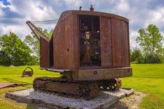 Stary rdzewiejący dragline Zdjęcia Stock