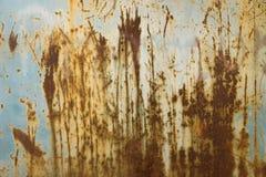 Stary rdzewiejący metalu talerz Zdjęcia Stock