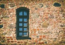 Stary Średniowieczny okno Zdjęcia Stock