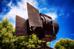 Stary reflektor dla filmować Obraz Stock