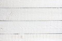 Stary retro biel malować drewniane deski Zdjęcie Stock