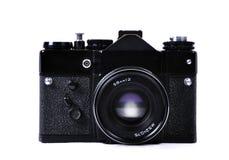 Stary, retro, rocznik kamera odizolowywająca na bielu Fotografia Stock
