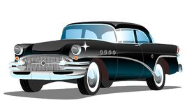 Stary retro samochód na białym tle Obrazy Stock