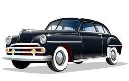 Stary retro samochód na białym tle Zdjęcie Royalty Free