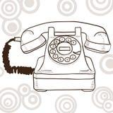 Stary retro telefon Fotografia Stock