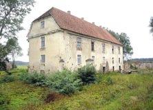 Stary rezydencja ziemska dom Nereta, Latvia Zdjęcia Stock