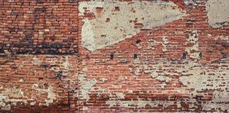 Stary rocznik czerwieni ściana z cegieł Obraz Royalty Free