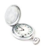 Stary rocznik drapający kieszeni srebra zegarek Zdjęcia Stock