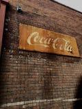 Stary rocznik koka-koli znak Zdjęcie Royalty Free
