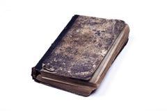 Stary rocznik szargał książkowego kędziorek z łańcuszkowym białym tłem Zdjęcia Stock