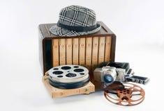 Stary rocznika filmu wyposażenie obraz stock