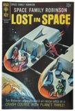 Stary rocznika komiks, Gubjący w przestrzeni Obrazy Royalty Free
