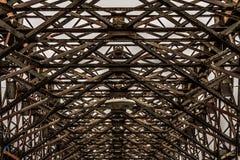 Stary rocznika metalu most obrazy stock