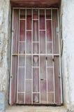 Stary rocznika okno od Tajlandzkiej świątyni Zdjęcia Stock