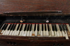 Stary rocznika organ Obrazy Royalty Free