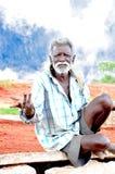 Stary rolnik od Południowy India Zdjęcia Royalty Free