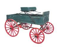 Stary rolny furgonu buckboard odizolowywający. zdjęcie royalty free