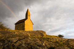 Stary Romański kościół w Drazovce, Sistani Zdjęcia Stock