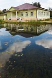 Stary rosyjski drewniany dom wiek XIX Fotografia Stock