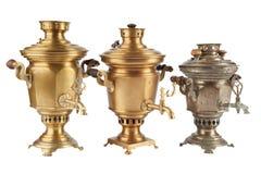 Stary rosyjski herbaciany samowar zdjęcie royalty free