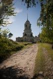Stary rosyjski kościół prawosławny w polu obraz royalty free
