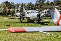 Stary Rosyjski Radziecki Naddźwiękowy wojskowy Hebluje samolotu wojownika Zdjęcia Stock