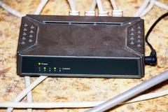 Stary router sieci centrum zdjęcia stock