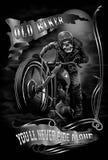 Stary rowerzysta fotografia stock