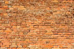 Stary rudopomarańczowy ściana z cegieł 2 Obraz Stock