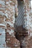 Stary rujnujący budynek Czerep architektura brickwork zdjęcie royalty free