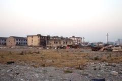 Stary rujnujący krajobraz w Ningbo zdjęcia stock
