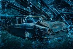 stary rusty wrak samochodowy Zdjęcie Royalty Free
