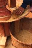 Stary ryżowy mielenie zdjęcia stock
