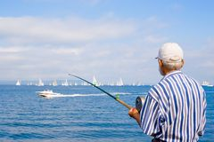 stary rybak Obrazy Royalty Free
