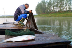Stary rybak Zdjęcia Stock