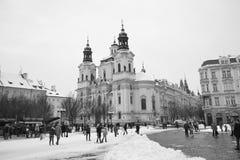 Stary rynek w Praga Obrazy Royalty Free