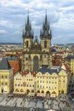 Stary rynek w Praga, republika czech Fotografia Royalty Free