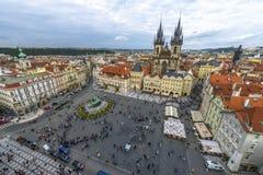 Stary rynek w Praga, republika czech Zdjęcie Stock